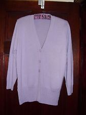 bonmarche M/L (up to 44'') lilac longline cardigan - acrylic / merino wool mix.