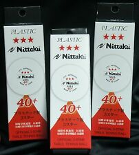 9 ( 3 Box) Nittaku 40+ ITTF 3-Star SHA Table Tennis Ball, New Material Plastic