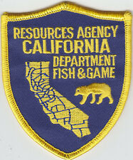 California CA Resources Agency Dept of Fish & Game MINI/HAT police patch