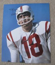 "Roman Gabriel Signed 16 x 20 NC State ""Go Pack"" Inscription - Buy Direct & Save"