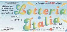 Biglietto lotteria Italia del 1986