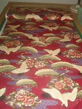 TRANS-PACIFIC TEXTILES FABRIC-quilt-Honolulu, Hawaii-CRANES-Asian-1 yd-sale