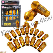20 PCS 50MM ORANGE RACING WHEEL LUG NUTS M12X 1.25 FOR Nissan Subaru infiniti