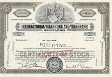 MDS USA INT.TELEPHONE AND TELEGRAPH CORP. LESS THAN 100 SHARES 1968 COMMON STOCK