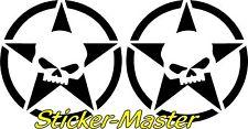 Tank Aufkleber Für Harley Suzuki Chopper R. u. L. Der Skullstar NEU