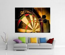 DARTS DART BOARD FLIGHTS GIANT WALL ART PICTURE PRINT PHOTO POSTER J89