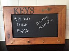 Recycled Timber Key Hanger With Chalkboard