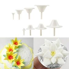 8Pcs  Icing Cream Flower Nails Set Cake Cupcake Stand Pastry Decorating Tool