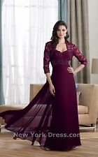 Montage  by Mon Cheri Evening Dress 212945 Wine, Size 14