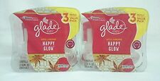 6 REFILLS Glade Plugins HAPPY GLOW Apple Cinnamon Scented Oil Refills