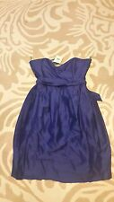 Kaliko (House of Fraser) 'Ultra Violet' Bandeau Silk Dress - Size 18 (RRP £119!)