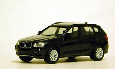 Herpa 1/87 HO BMW X3 Crossover Black PLASTIC BODY REPLICA 34630-003