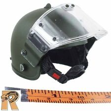 OSN Saturn Spetsnaz - Riot Helmet w/ Shield - 1/6 Scale - Damtoys Action Figures