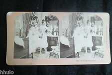 STB466 Scène de genre Gaine corset stereoview photo STEREO albumen