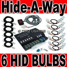 120W 6 HID Bulb Car Truck Hide-A-Way Hazard Warning Strobe Light System Kit C99