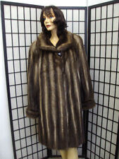 SHOWROOM NEW MUSKRAT & FOX FUR COAT JACKET WOMEN WOMAN SZ 16-18 2X-LARGE