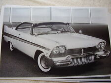 1958 PLYMOUTH FURY 2DR HARDTOP   11 X 17  PHOTO   PICTURE