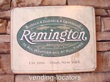"Remington Gun Metal 16"" x 12"" Metal Man Cave Bar Rifle Ammo Colt Pistol Bullets"