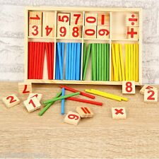 Wooden Pre-School Mathematical Intelligence Stick Early Learning Counting Toy