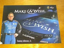 2016 TOMMY JOHNSON JR. MAKE A WISH FUNNY CAR NHRA POSTCARD