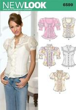 NEW LOOK SEWING PATTERN MISSES; TOPS TOP BLOUSES BLOUSE SIZE 8 - 18 6599