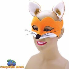 BROWN FOX ANIMAL SET WITH MASK & EARS Fancy Dress Costume Accessory