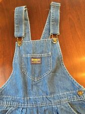 Vintage Dress Oshkosh B'gosh Women's Denim Overall Vestbak Jumper Size 10 Modest