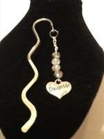 Book mark daughter silver plated with 4 crystals