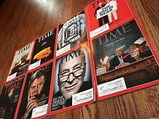 LOT of 8 Time Magazine Trump Covers Politics Hillary President