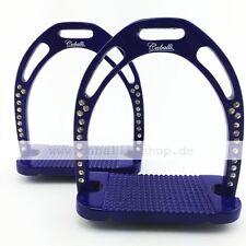 Caballi 44 Stars Blau Aluminium Steigbügel mit 44 Strass Steinchen im Jin Style