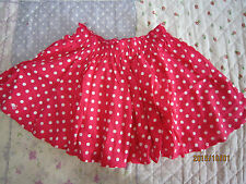 Toddler Girl Red Dotted Round Skirts (Short) 5-6yo 1pcs