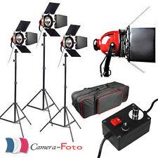 Kit Red Head Lumière Continue Vidéo Photo Kit Studio 3 Supports+3x800W Ampoules