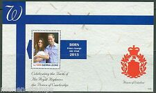 SIERRA LEONE  2013 BIRTH OF PRINCE GEORGE WITH KATE & PRINCE WILLIAM S/SHEET