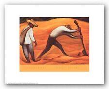 LATIN ART PRINT Peasants Diego Rivera 14x11