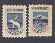 Greenland Poster Stamps 1944  COAT OF ARMS POLAR BEAR CAYAK