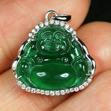13.8CT 100% Natural Diamonds Grade A Jadeite Jade Carving Buddha Pendant YCDZ10