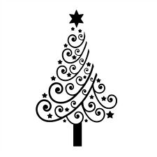 Christmas Trees Wall Stickers Home Decor Vinyl Wall Decals Xmas Present Gifts
