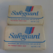 Lot of 2  Vintage Safeguard Deodorant  Soap Bars Mini Hotel Size  NOS