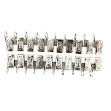 20X Stainless Steel Window Shower Curtain Rod Rings Drapery Clips Clothesline