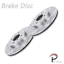 2pc Front Left Right Drilled Slot Brake Rotor Disc For Fit Integra Civic Insight