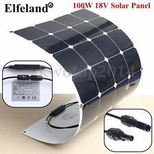 UK Gratis 100W 18V Panel Solar Energía+Semiflexible Cargador para Barco Caravana