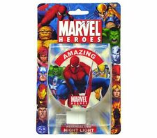 MARVEL HEROES AMAZING SPIDERMAN HULK CAPTAIN AMERICA BOYS ROOM Night Light Lamp