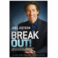 BREAK OUT! The 5 Keys to Life!! Hardcover BOOK by Joel Osteen FREE SHIPPING