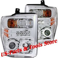 Ford F250 F350 F450 Scheinwerfer CCFL Angeleyes chrom LED 08 - 10 2010 2008 2009