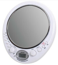 Jensen AM FM SplashResistant Shower Radio Fog Free Mirror Clock Free US Shipping