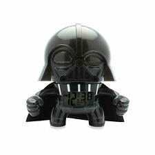 Star Wars Darth Vader Bulb Botz LCD Alarm Clock 7 1/2 Inches Tall Black NIB