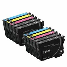 10 Pack Remanufactured T200XL 200XL Ink For Epson XP 300 WF 2520 2530 2540