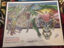 X-MEN VISIONARIES Print signed by Stan Lee And Neal Adams Marvel Comics