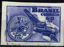 Brazil Aviation Aircraft Map stamp 1948 imperforated