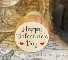 Wine Stopper, Happy Valentine's Day Handmade Wood Bottle Stopper, Special Gift